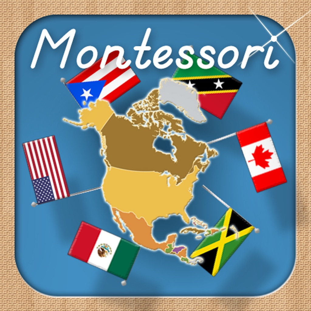 Flags of North America - A Montessori Approach To Geography HD