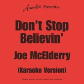 Don't Stop Believin' (In The Style Of Joe McElderry)