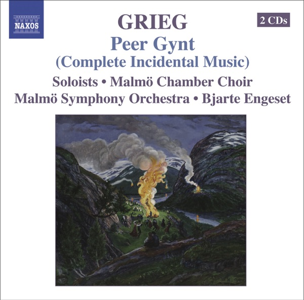 Grieg Orchestral Music Vol 5 Bjarte Engeset Malmö Symphony Orchestra  Malmö Chamber Choir CD cover