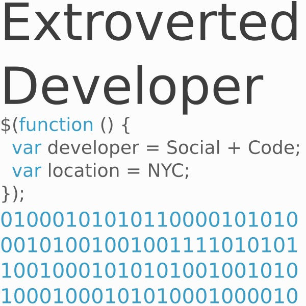 Extroverted Developer