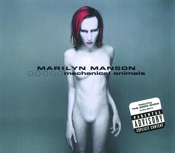 Mechanical Animals Marilyn Manson CD cover