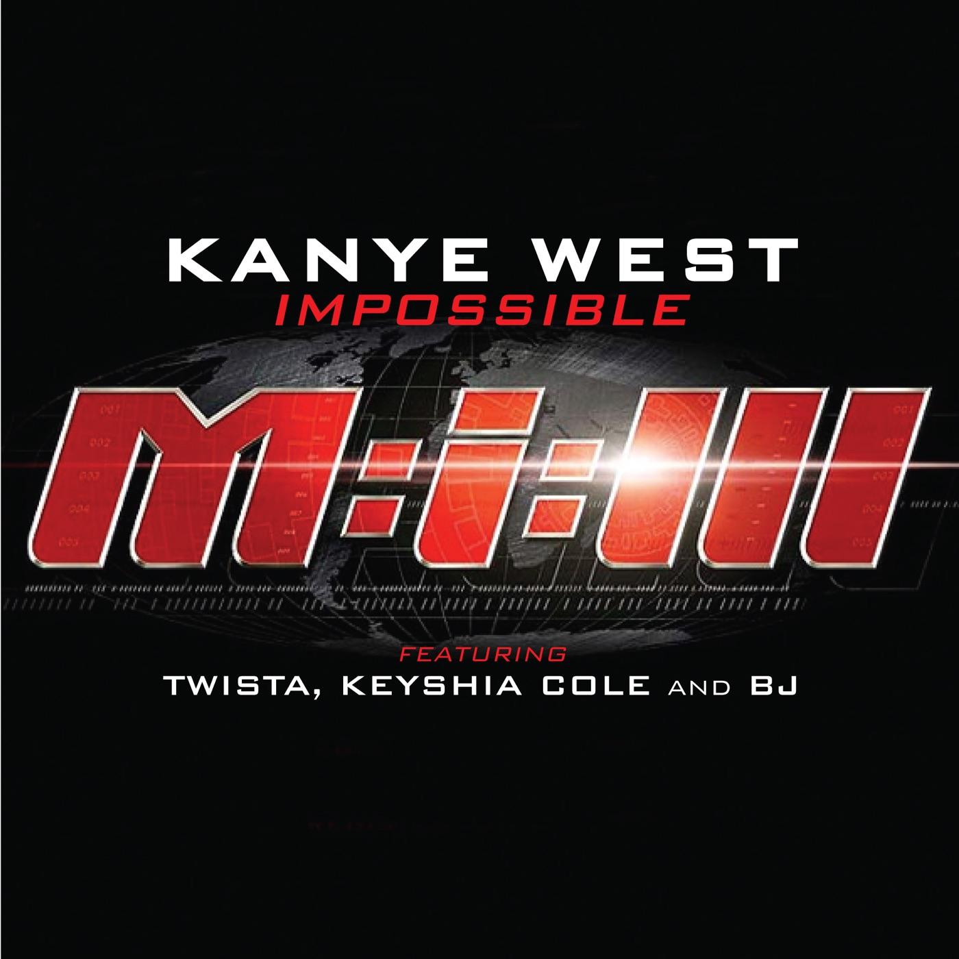 Kanye West featuring Twista, Keyshia Cole & BJ - Impossible (Radio Edit) - Single Cover