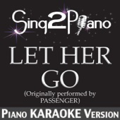 Let Her Go (Originally Performed By Passenger) [Piano Karaoke Version]