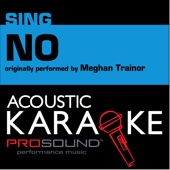 ProSound Karaoke Band - NO (Originally Performed by Meghan Trainor) [Instrumental Version] bild