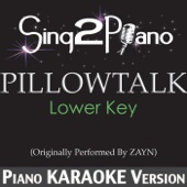 Pillowtalk (Lower Key) [Originally Performed by Zayn] [Piano Karaoke Version]
