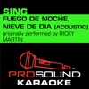 Fuego de Noche, Nieve de Día (Originally Performed by Ricky Martin) [Acoustic Instrumental Version] - Single
