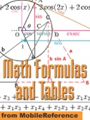 Math Formulas and Tables - MobileReference Cover Art