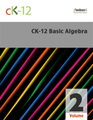 CK-12 Basic Algebra, Volume 2