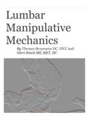 Lumbar  Manipulative Mechanics