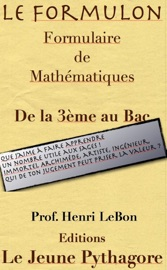 LE FORMULON - FORMULAIRE DE MATHéMATIQUE