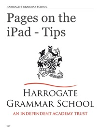 PAGES ON THE IPAD - TIPS