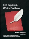 Red Squares White Feathers