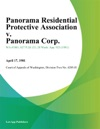 Panorama Residential Protective Association V Panorama Corp