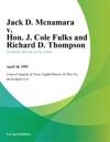 Jack D Mcnamara V Hon J Cole Fulks And Richard D Thompson