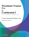 Westmont Tractor Co V Continental I