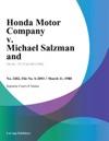Honda Motor Company V Michael Salzman And