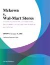 Mckown V Wal-Mart Stores