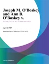 Joseph M OBoskey And Ann B OBoskey V