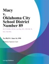 Macy V Oklahoma City School District Number 89