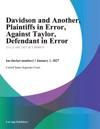 Davidson And Another Plaintiffs In Error Against Taylor Defendant In Error