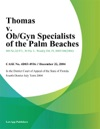 Thomas V ObGyn Specialists Of The Palm Beaches