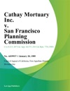 Cathay Mortuary Inc V San Francisco Planning Commission