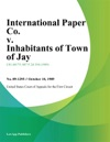 International Paper Co V Inhabitants Of Town Of Jay