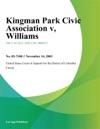 Kingman Park Civic Association V Williams
