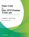 State Utah V One 1979 Pontiac Trans Am