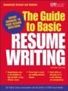 The Guide To Basic Resume Writing
