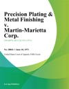 Precision Plating  Metal Finishing V Martin-Marietta Corp