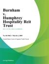 Burnham V Humphrey Hospitality Reit Trust