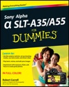 Sony Alpha SLT-A35  A55 For Dummies