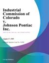 Industrial Commission Of Colorado V Johnson Pontiac Inc