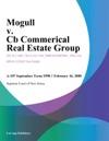 Mogull V Cb Commerical Real Estate Group