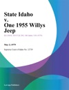 State Idaho V One 1955 Willys Jeep