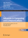 Advances In Computing And Communications Part IV