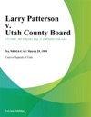 Larry Patterson V Utah County Board