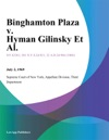 Binghamton Plaza V Hyman Gilinsky Et Al