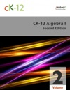 CK-12 Algebra I - Second Edition Volume 2 Of 2