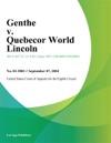Genthe V Quebecor World Lincoln