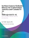 Serbian Eastern Orthodox Diocese For United States America And Canada Et Al V Milivojevich Et Al