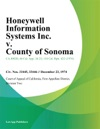 Honeywell Information Systems Inc V County Of Sonoma