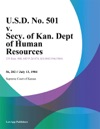 USD No 501 V Secy Of Kan Dept Of Human Resources