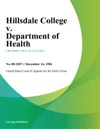 Hillsdale College V Department Of Health