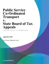 Public Service Co-Ordinated Transport V State Board Of Tax Appeals