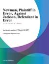 Newman Plaintiff In Error Against Jackson Defendant In Error