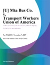 Mta Bus Co V Transport Workers Union Of America