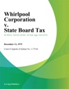 Whirlpool Corporation V State Board Tax