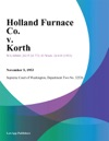 Holland Furnace Co V Korth